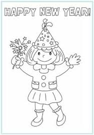 New Year Coloring Pages Picture 10 Printable Happy Years Free