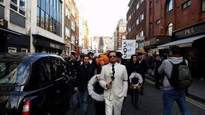 The Protest Travelled From Soho Square To Madame Jojos
