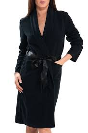 robe de chambre en robe de chambre noir simply noir antigel de lise charmel