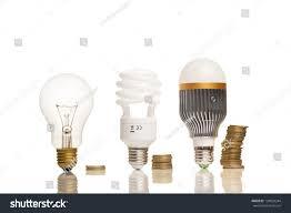 money saved different types light bulbs stock photo 128859244