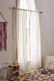 plum bow blackout pompom curtain urban outfitters the shire