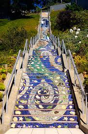 stairway to heaven 16th avenue tiled steps in san francisco