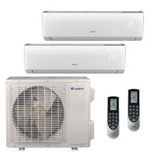 Mini Split Ceiling Cassette Air Conditioner by Gree Dual Zone Ductless Mini Splits Air Conditioners The