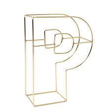 Soft Gold Wire Letter P 15Cm Hobbycraft