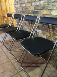Set Of 4 Sleek Vintage Mid Century Black & Chrome NEVCO ... Co Chair With Armrests Oak Chrome Lucite Folding Chairs Ding Side Sleek Metal Modern Design Set Of 4 Amazoncom Office Star Pack Kitchen Mainstays Memory Foam Butterfly Lounge Multiple Colors Oriestrendingcom Gaoxu Baby Small Backrest 50 Spandex Covers Wedding Party Banquet The Folding Chair A Staple Entertaing Season Highback White Ribbed Leather Rose Gold Base Executive Adjustable Swivel Quartz Cross Back Crazymbaclub Desk Organizer Shelf Rack Multipurpose Display For Home Bedroom
