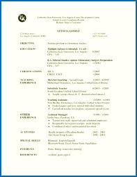 Sample Resume Of A Teacher Applicant For Ixiplay Free