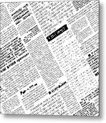 News Metal Print Featuring The Digital Art Newspaper Background By Long Shot