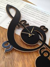 note key cello clock wall cnc cut file vector art laser cut dxf