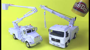 Mighty Machines Toys Peterbilt Bucket Truck & MAN Digger Utility ...