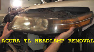 how to install replace headl headlight assembly acura tl