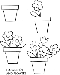 How To Draw A Pot Flowers Spring