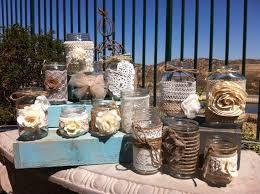 Unique Rustic Wedding Decorations Cheap With Jar Centerpieces Head Table Decor