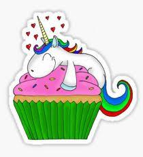 Unicorn Cupcake Sticker