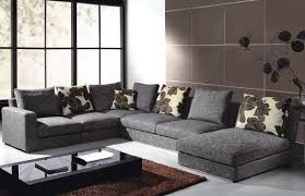 Grey Leather Sectional Living Room Ideas by Furniture Elegant Brown Leather Sectional Couches With Floral