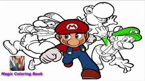 Lets Color Super Mario Great Super Mario Coloring Book