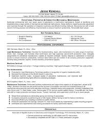 Maintenance Engineer Resume Sample