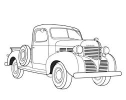 Dodge Pickup 1939 Old Car Coloring Pages