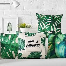 24 X 24 Patio Cushion Covers by Tropical Jungle Plant Monstera Banana Leaf It U0027s Fantastic Words