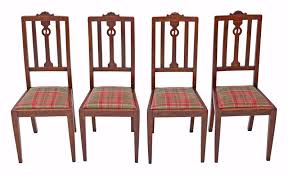 Set Of 4 Art Nouveau Oak Dining Chairs - 4671a / LA70304 ... Antique Vintage Art Nouveau Style Set Of 4 Carved Oak Ding Chairs Of Six French Louis Majorelle Caned Mahogany Unusual Victorian Walnut Wrought Iron Floral Lovely Important By Ernesto Basile For Ducrot 6 517550 Ding Chairs Art Nouveau Chair Set Sold Eight Period Tallback Stunning Inlaid High Back 2 Vinterior Fniture Antique Cupboards Tables