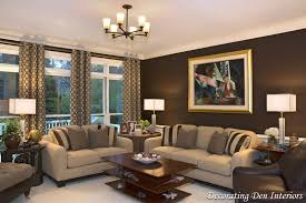 Decorating With Chocolate Brown Couches by Chocolate Brown Wall Paint Color In Living Room Contemporary