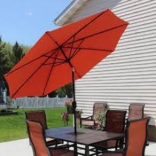 Sears Rectangular Patio Umbrella by Patio Umbrellas U0026 Bases Orange Sears