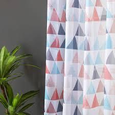 topfinel transparente vorhänge geometrisches dreieck
