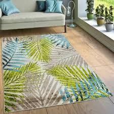 designer teppich wohnzimmer jungle palmen design braun