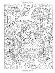 Dover Publications Creative Haven Cats Coloring Book Artwork By Marjorie SarnatAbstract Doodle Zentangle Paisley Pages Colouring Adult