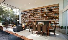 Living Room Library Design Ideas Interior Decoration For Drawing