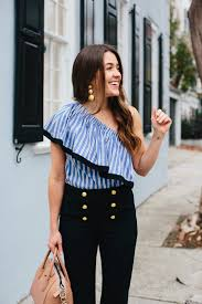 Nautical Look In Charleston Wearing Stripe Milly Top And Sezane Sailor Pants 8 Of 16