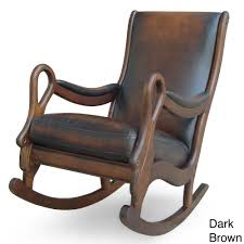 Vintage Leather Rocking Chair | Overstock.com Shopping - The ... Solid Peroba De Rosa Heavy Wood Rocking Chair Fniture Fascating Amish Chairs With Interesting Bz Kd20n Classic Wooden Childs Porch Rocker Natural Oak Ages 37 Lovely American Vintage Oak Antique Dexter Ash Duty Used For Sale Chairish Bent Style Jack Post Childrens Patio Of America Oria Brown Hardwood Michigan State