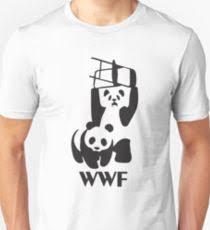 wwf logo panda chair t shirts redbubble