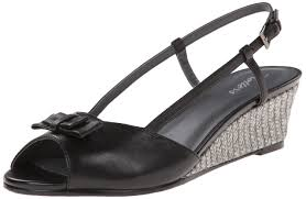 trotters women u0027s milly wedge sandal black leather 12 w us 2