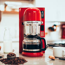 KitchenAid KCM0802ER Empire Red 8 Cup Custom Automatic Pourover Coffee Maker