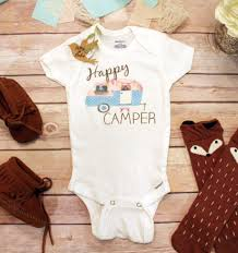 happy camper onesie baby girl clothes baby shower gift boho