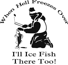 Ice Fishing Hell When Hell Freezes Over I'll Ice Fish 2 Fish Skeleton Decals Car Sticker Fishing Boat Canoe Kayak Rodfather Funny Vancar Jdm Vw Dub Vag Euro Vinyl Decal Tancredy Go Stickers And Bumper Bass Truck Wall Window 1pc High Quality 15179cm Id Rather Be Fly Angler Vinyl Decal Fly Fishing Sticker Ice Hell When Freezes Over Ill Visit To Buy 14684cm Is Good Bruce Pinterest 2018 Styling Daiwa Brand And For Hooked On Outdoor Life Camping