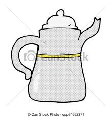 Freehand Drawn Cartoon Coffee Pot