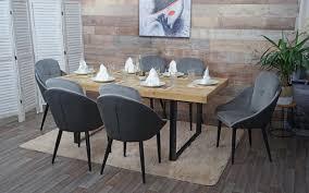 6x esszimmerstuhl hwc g42 stuhl mit armlehne küchenstuhl lehnstuhl samt grau anthrazit