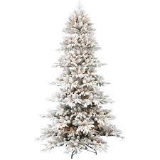 D21 75 Ft Pre Lit Emmeline Flocked Pine Christmas Tree