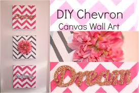 DIY Chevron Canvas Wall Art