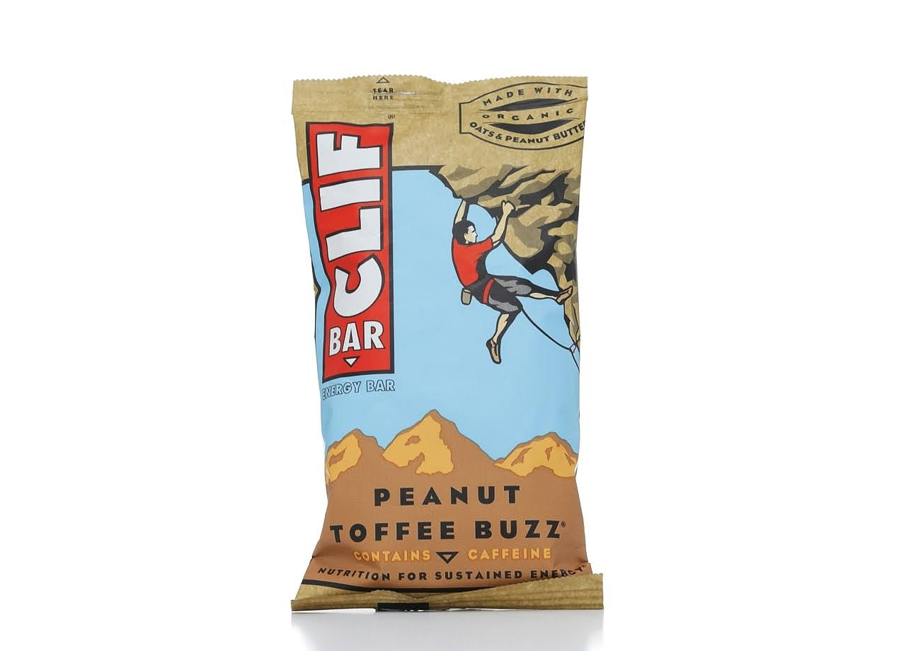 Clif Bar Energy Bar - Peanut Toffee Buzz, 68g
