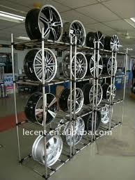 Adjustable Free Standing Display Stand Rack For Mag Wheel Rims Racks