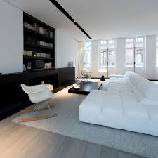in schwarz weiß einrichten eine minimalistische luxus wohnung