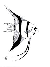 Angel Fish Image Coloring Page