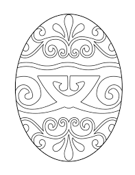 Easter Egg Coloring Page To Print