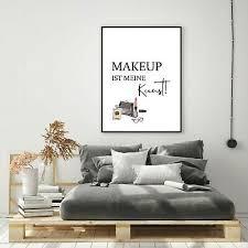 kunstdruck a4 modern makeup kunst 1 wandbild deko poster