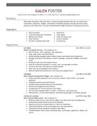 Sample Janitorial Resume Cleaning Professionals Objective For Position