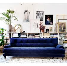 sofa fancy royal blue velvet sofa xnron button tufted bed