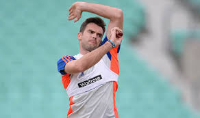 James Anderson Training With England