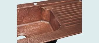 Copper Sinks With Drainboards by Hand Crafted Copper Sink With Drainboard U0026 Ray U0027s Hammering By